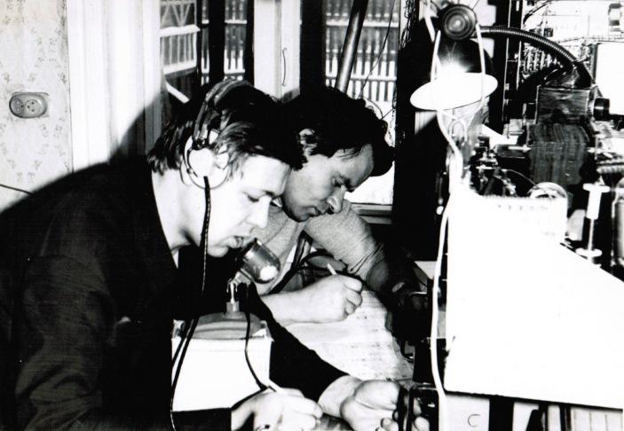 Команда Пушкинского радиоклуба UK3DAE в телефонных соревнованиях, операторы UV3HD и UW3HO (70-е годы)
